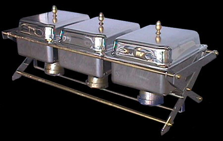 Where to find CHAFING DISH 3-4 QT. SECT. W BRASS TRIM in Columbus