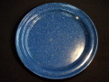 Where to rent BLUE METAL DINNER PLATE in Columbus GA