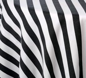 Where to find 72 X 72 BLACK WHITE STRIPE POLY in Columbus