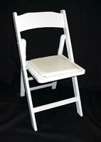 Where to find CHAIR WHITE PADDED   DRAKE in Columbus