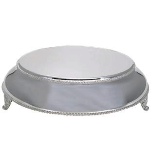 Where to find 17  ROUND BEADED SILVER CAKE RISER in Columbus