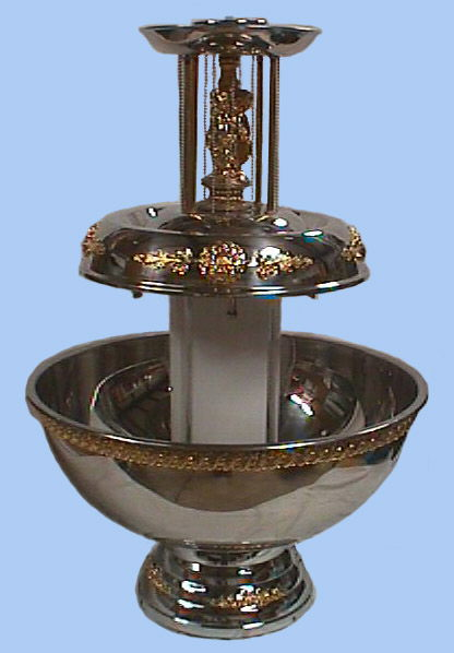 Where to find 7 GALLON FOUNTAIN S S W GOLD TRIM in Columbus
