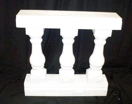 Where to find BALUSTRADE, 3 POST  WHITE in Columbus